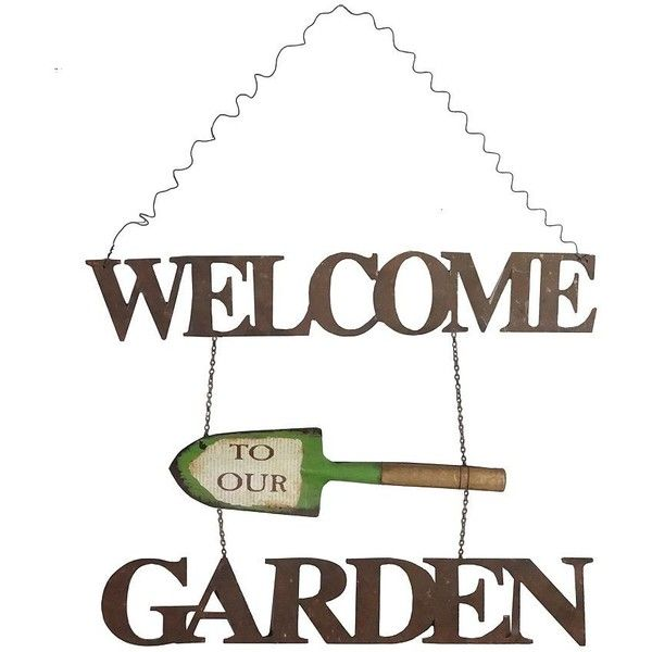 Welcome to Our Garden Sign ($30) ❤ liked on Polyvore featuring home
