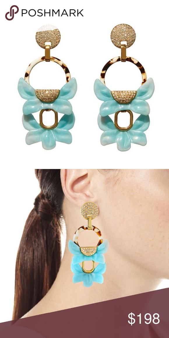 Lele Sadoughi Rio Crystal Floral Drop Clip-On Earrings NT7r6L5