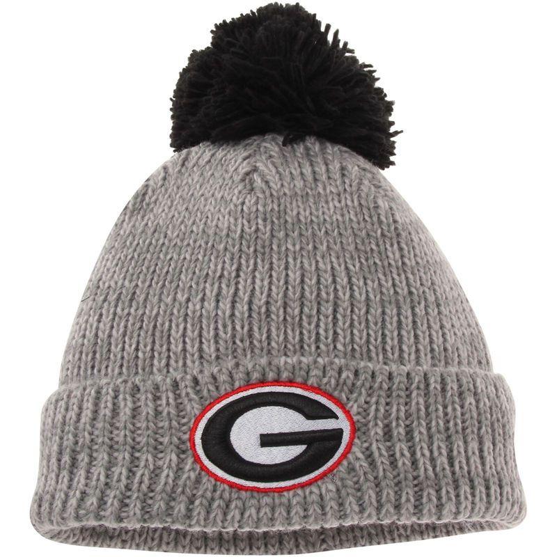 23911087929 Georgia Bulldogs New Era Start Cuff Knit Hat With Pom - Gray ...
