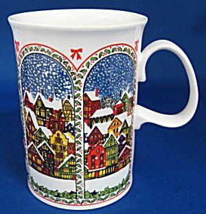 Dunoon Sue Scullard Christmas Mug Snowy English Village (Image1)