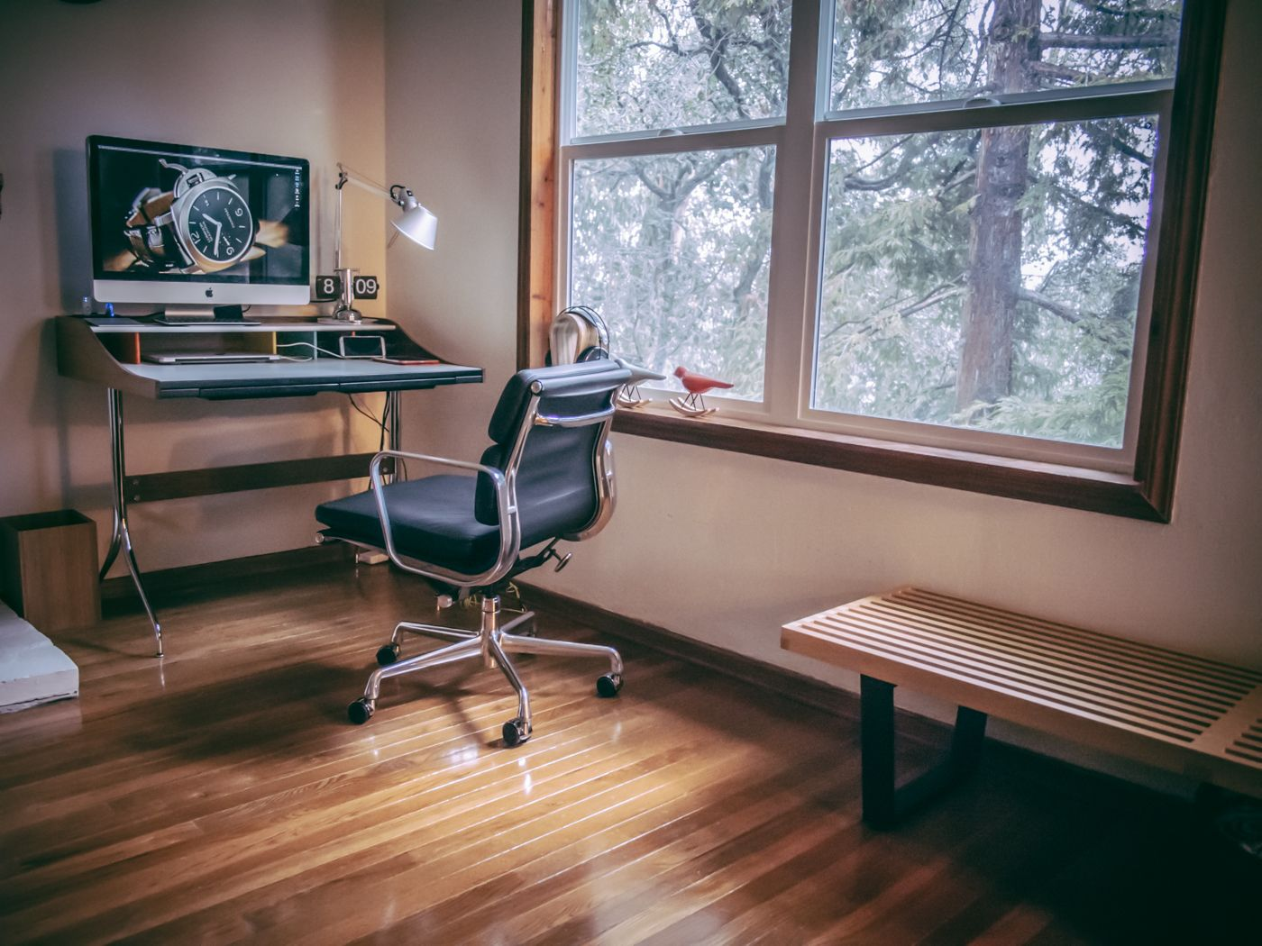 My Interpretation Of The MidCentury Modern Workspace: George Nelson Swag  Leg Desk Design By Charles