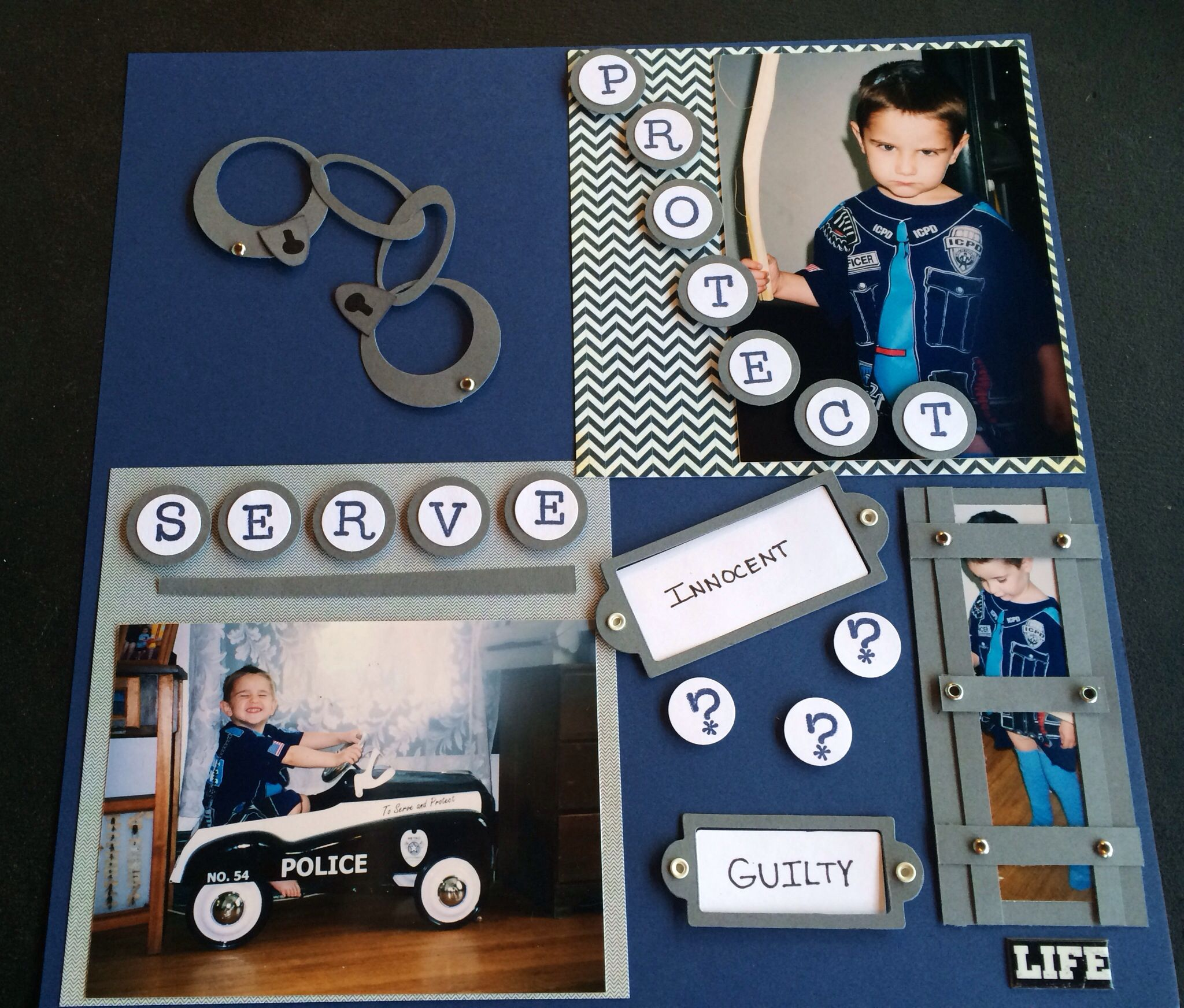 Scrapbook ideas military - Police Officer Scrapbook Layout