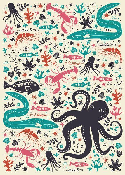 Sea Patrol Art Print by Anna Deegan | Society6