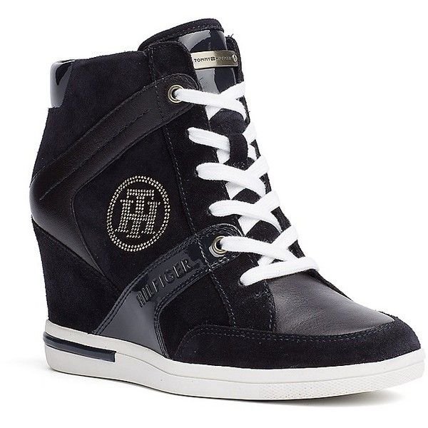 efb9b5a07d54 Tommy Hilfiger City Sneaker Wedge ( 140) ❤ liked on Polyvore featuring shoes