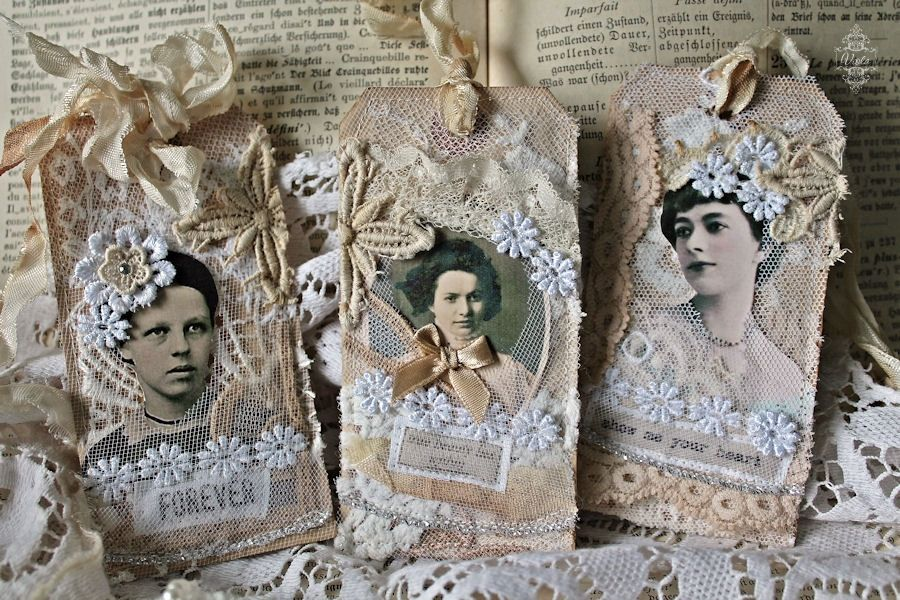 Shabby Chic Inspired Ouvrages Textiles Textile Art