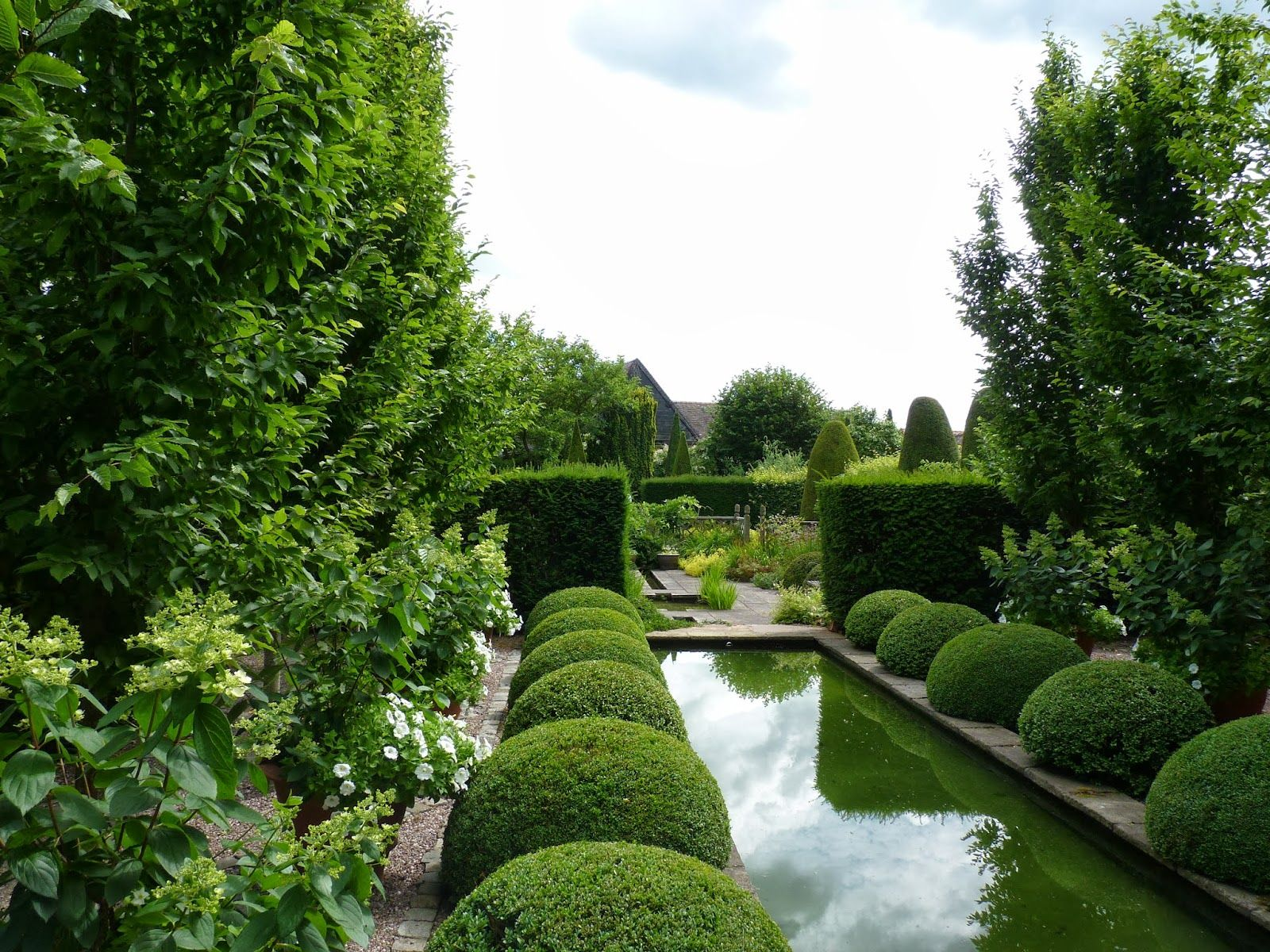 Lesley And John Jenkins Wollerton Old Hall Garden Shropshire Landscape Trees Landscape Architecture Garden Paving