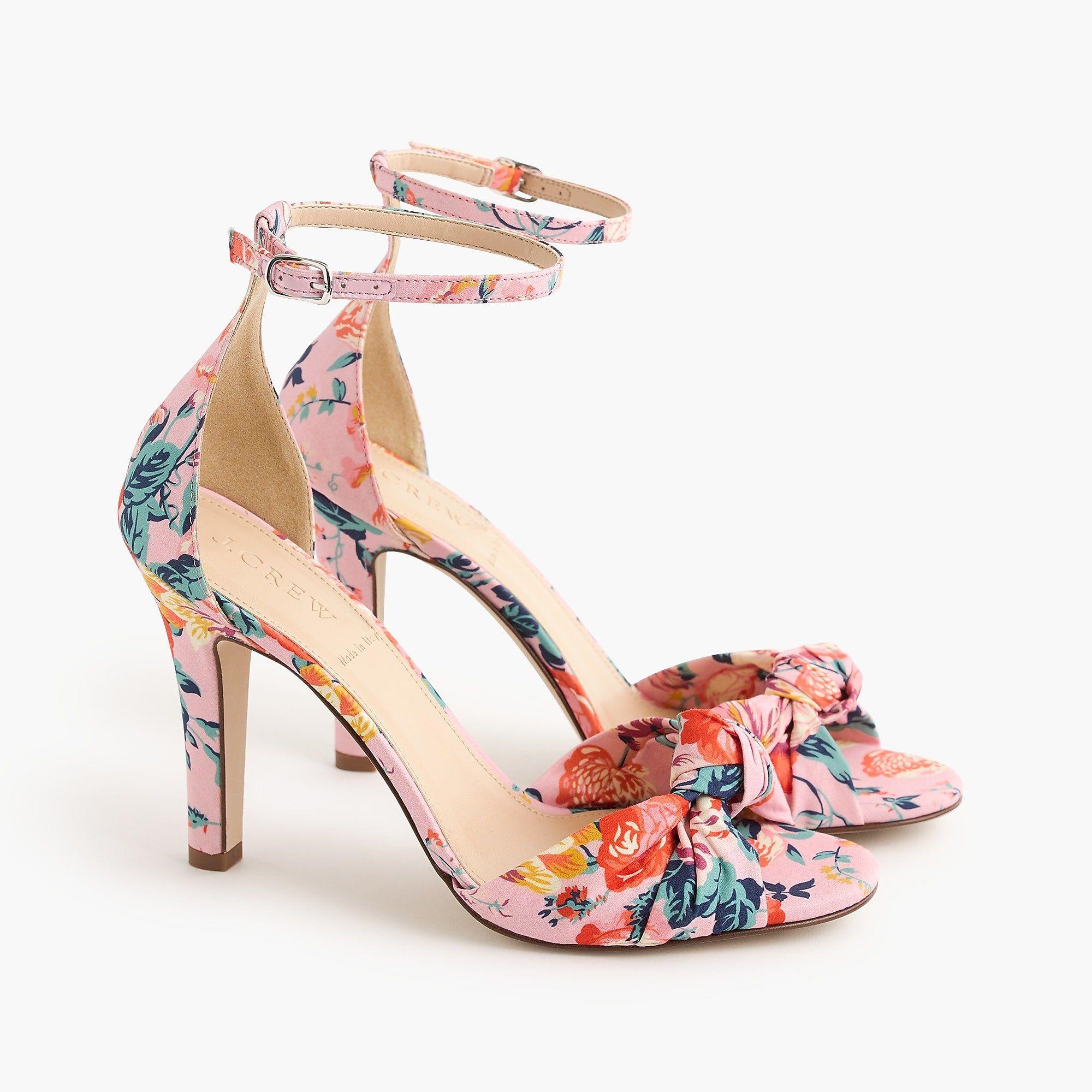 de1d91f5bfac Women s Knotted High-Heel Sandals In Liberty® Floral - Women s Sandals
