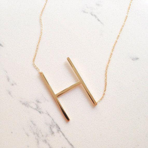 SALE large initial necklace / oversized letter / alphabet /