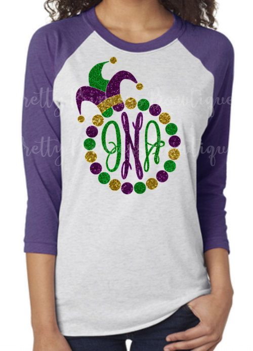 f392ffd852b5e8 Mardi Gra Shirt - Mardi Gra T Shirt POST MONOGRAM INITIALS IN NOTES TO  SELLER AT CHECKOUT FIRST LAST MIDDLE ORDER PLEASE always check size charts  in the ...