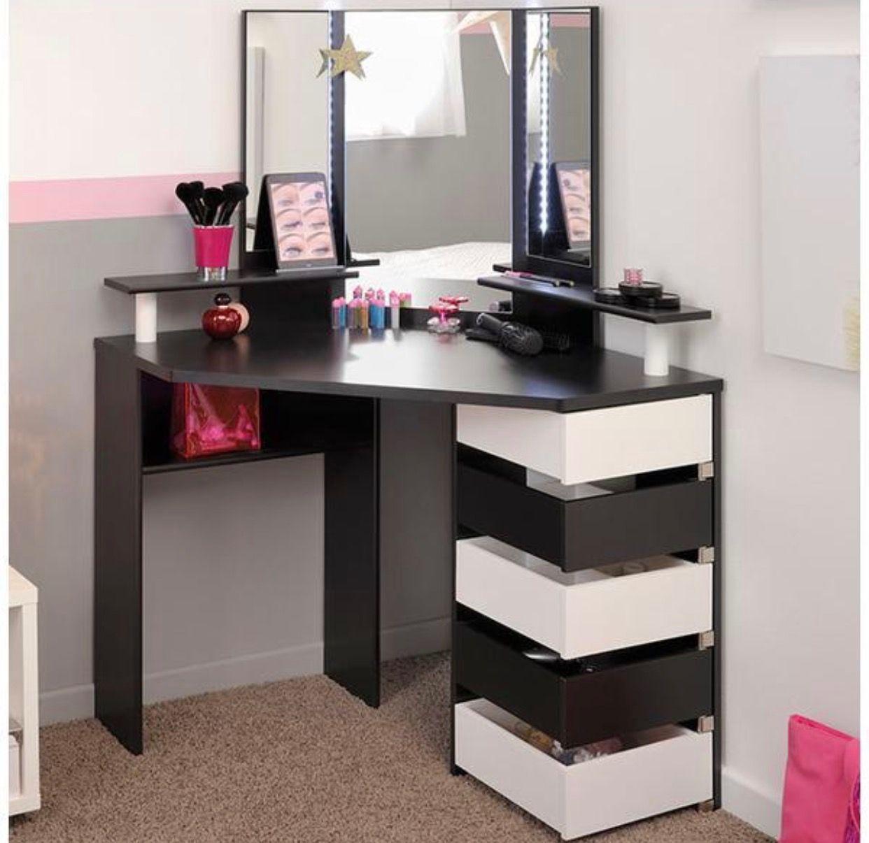 Cornered vanity home goods pinterest corner vanity vanities cornered vanity geotapseo Images