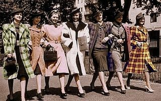 love these old re-colored photos... and those fun coats!
