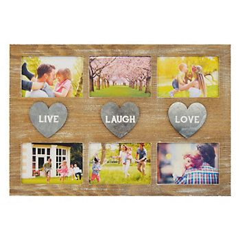 New View \'\'Live Laugh Love\'\' 6-opening Collage Frame | Frames ...