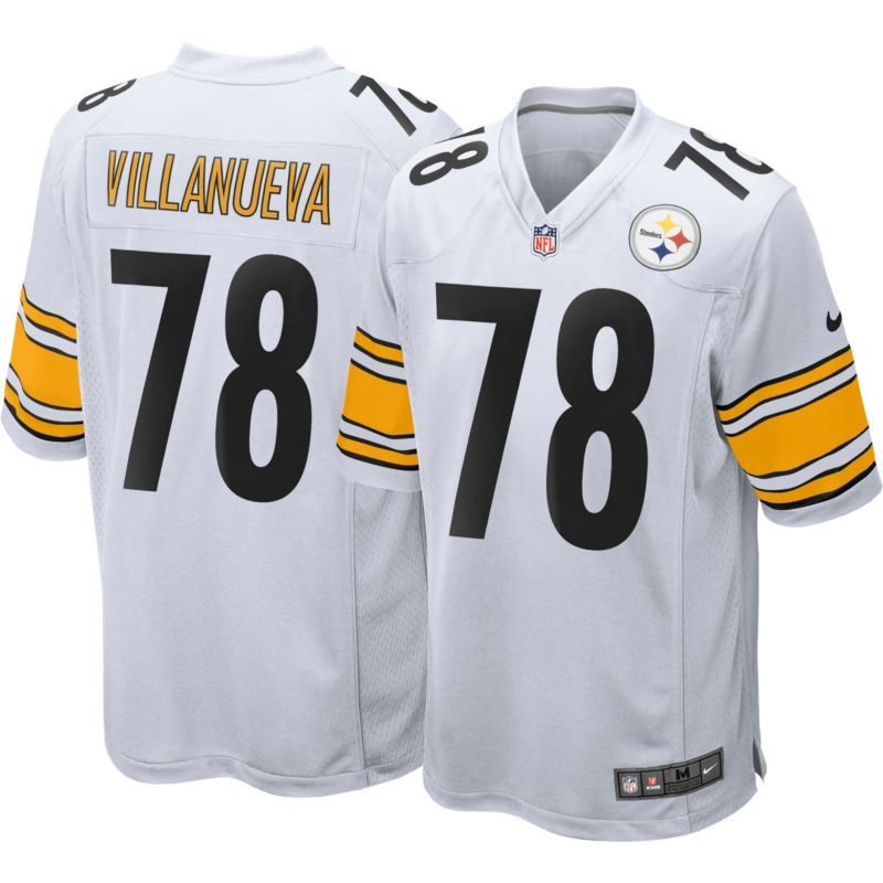huge selection of 34dae f3b24 Nike Men's Away Game Jersey Pittsburgh Alejandro Villanueva ...