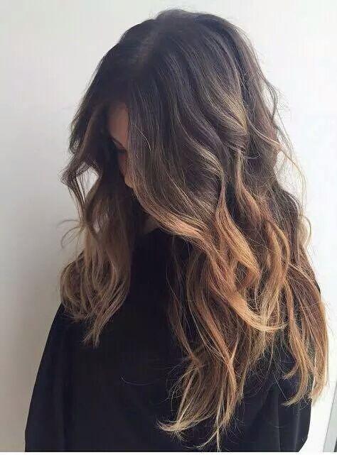 Ombre Hair Dark Brown Wavy Hair Brown Hair Balayage Balayage Hair Frizzy Wavy Hair