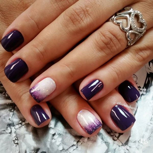 45+ Purple Nail Art Ideas - 45+ Purple Nail Art Ideas Purple Nail Art, Purple Nail And Ombre