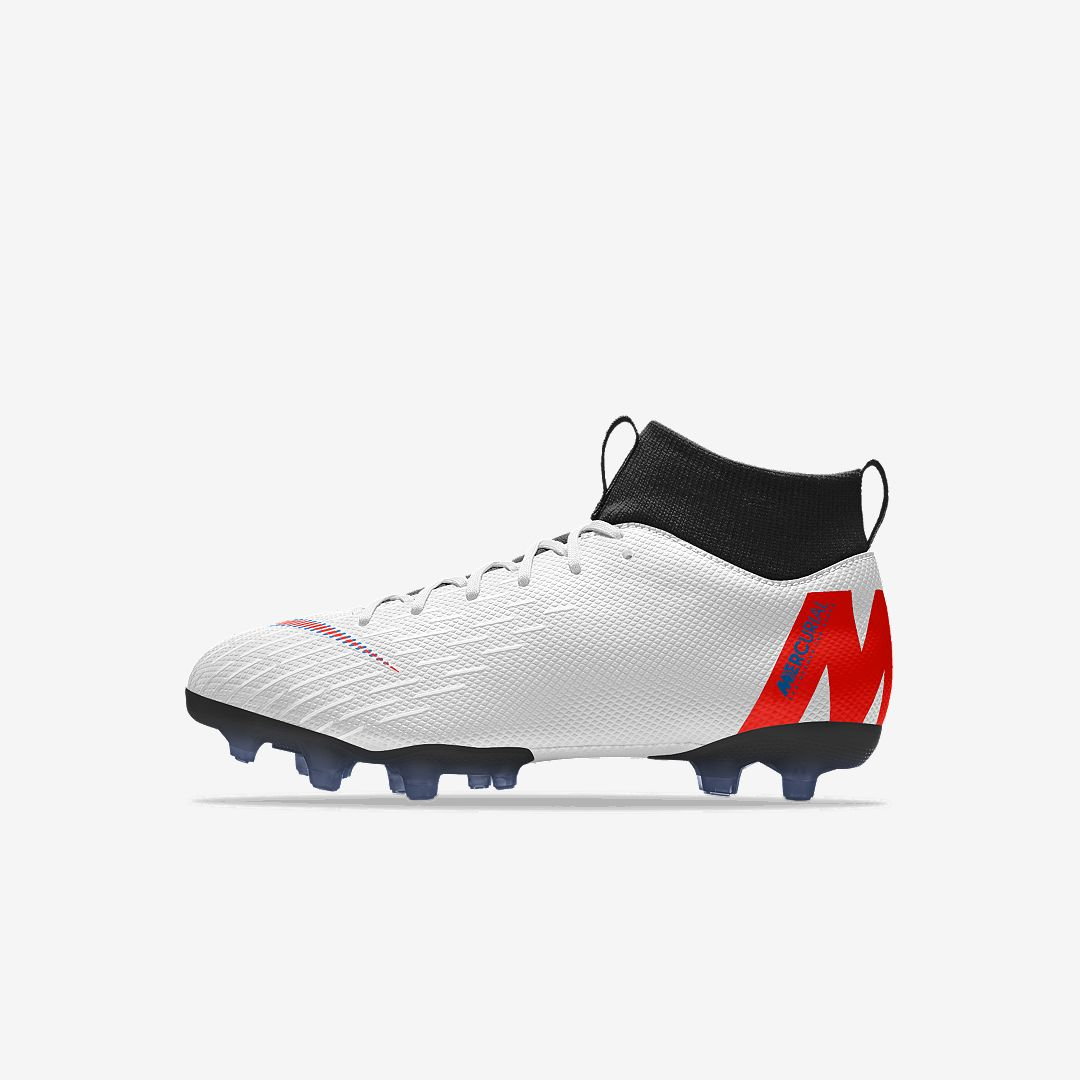 61c0b4a13 Nike Jr. Mercurial Superfly VI Academy MG By You Big Kids  Multi-Ground  Soccer Cleat Size 5.5Y (Multi-Color)