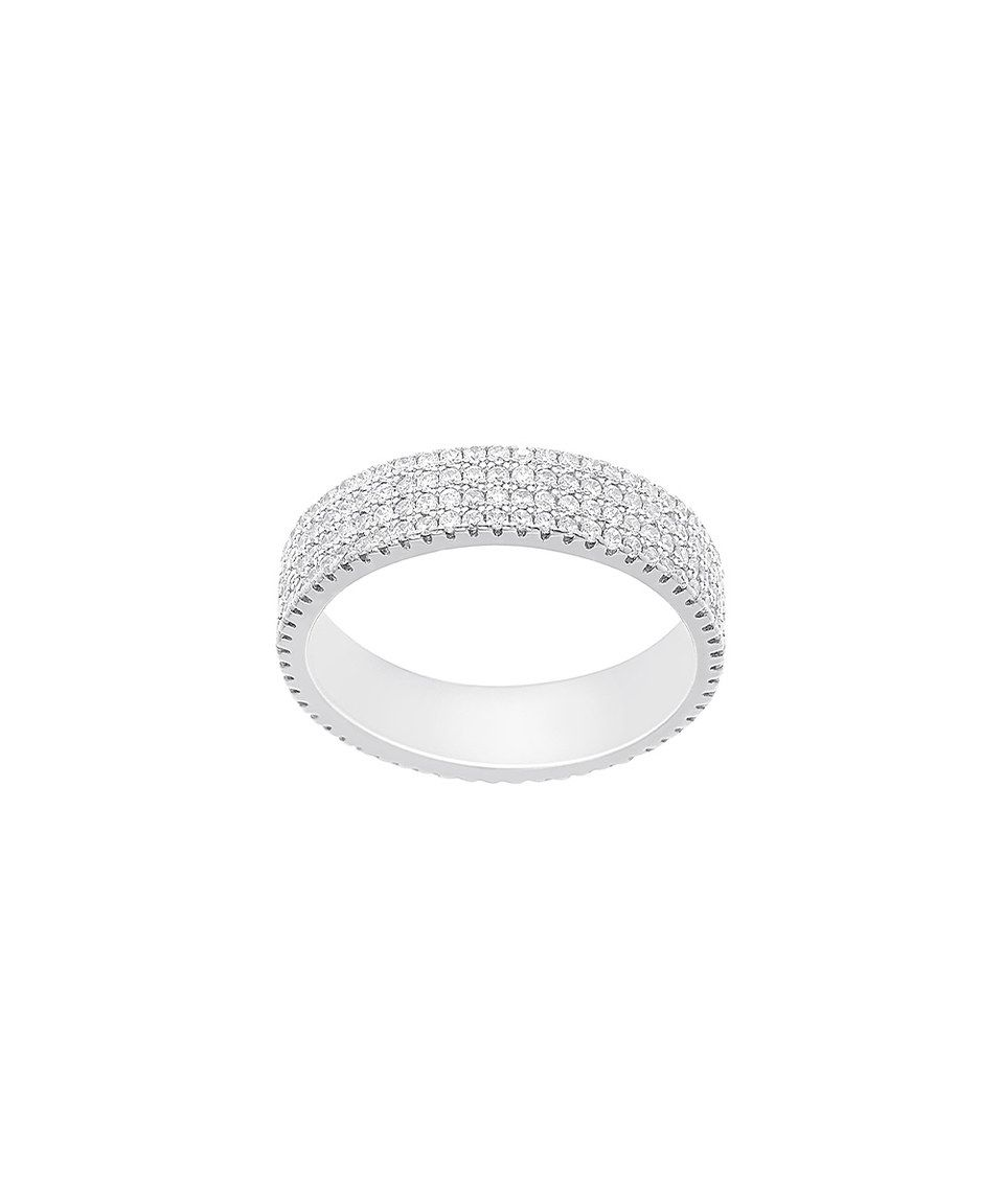 Look what I found on #zulily! Cubic Zirconia & White Gold Pavé Four-Row Ring by Bliss #zulilyfinds