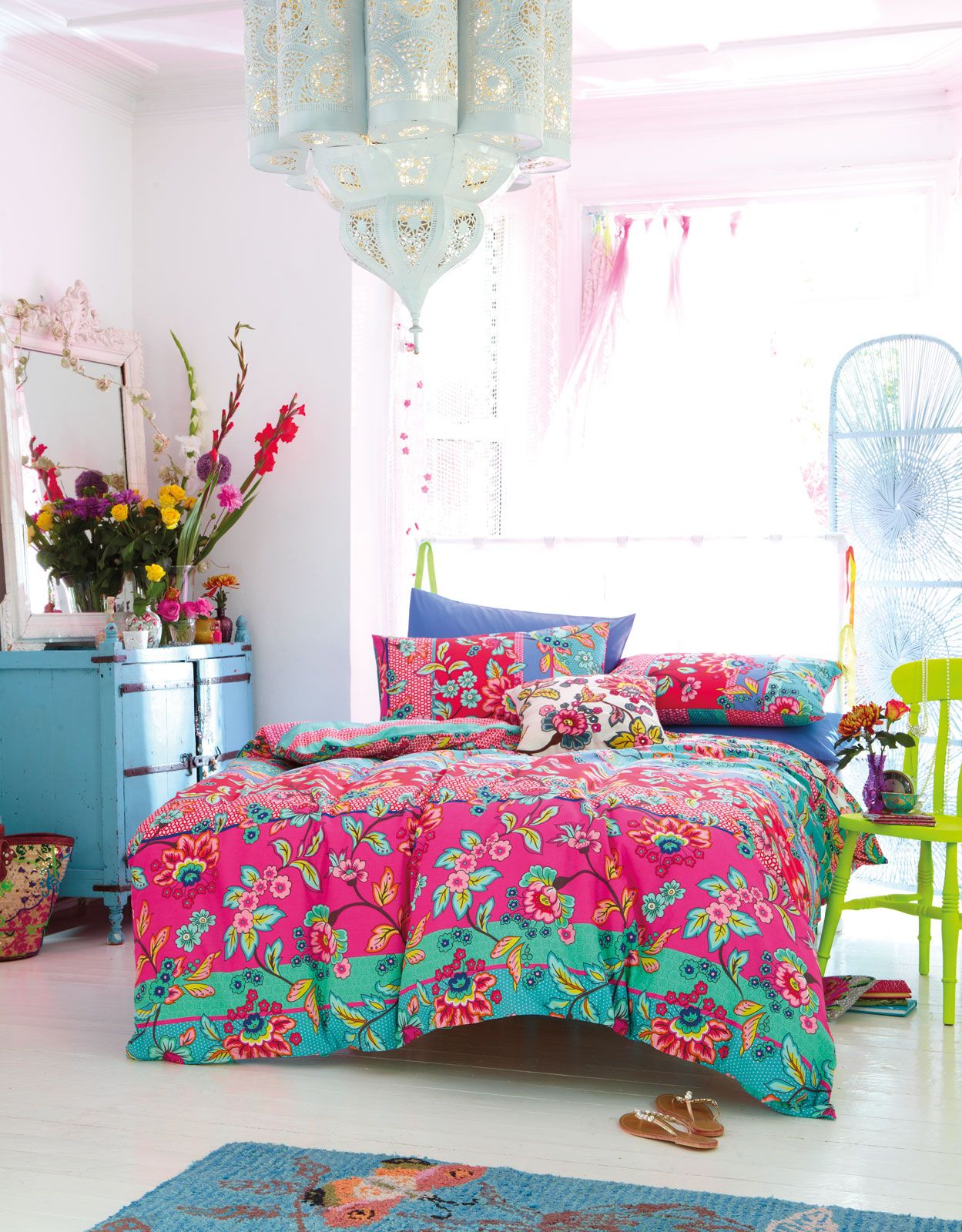 This Is A Happy Room Love The Lantern Color Scheme Blue Dresser