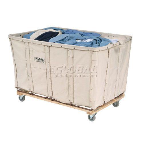 Trucks Carts Trucks Bulk Canvas Vinyl Best Value 8 Bushel Canvas Basket Bulk Truck 241302 Globalindustrial Com Laundry Cart Cleaning Cart Clothes Shelves