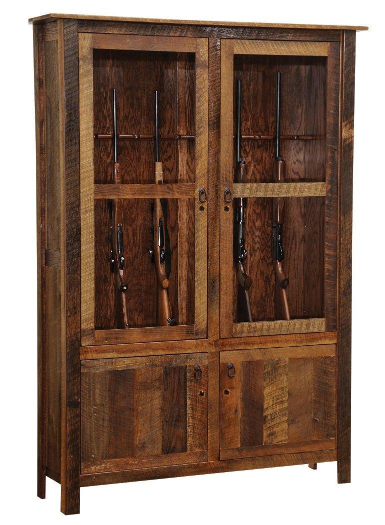 Ordinaire Barnwood Gun Cabinet More
