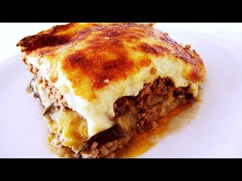 This Moussaka Made With Potatoes And Ground Beef Is One Of Our Family Favorites It S Simple To Make And Moussaka Recipe Greek Recipes Greek Recipes Authentic