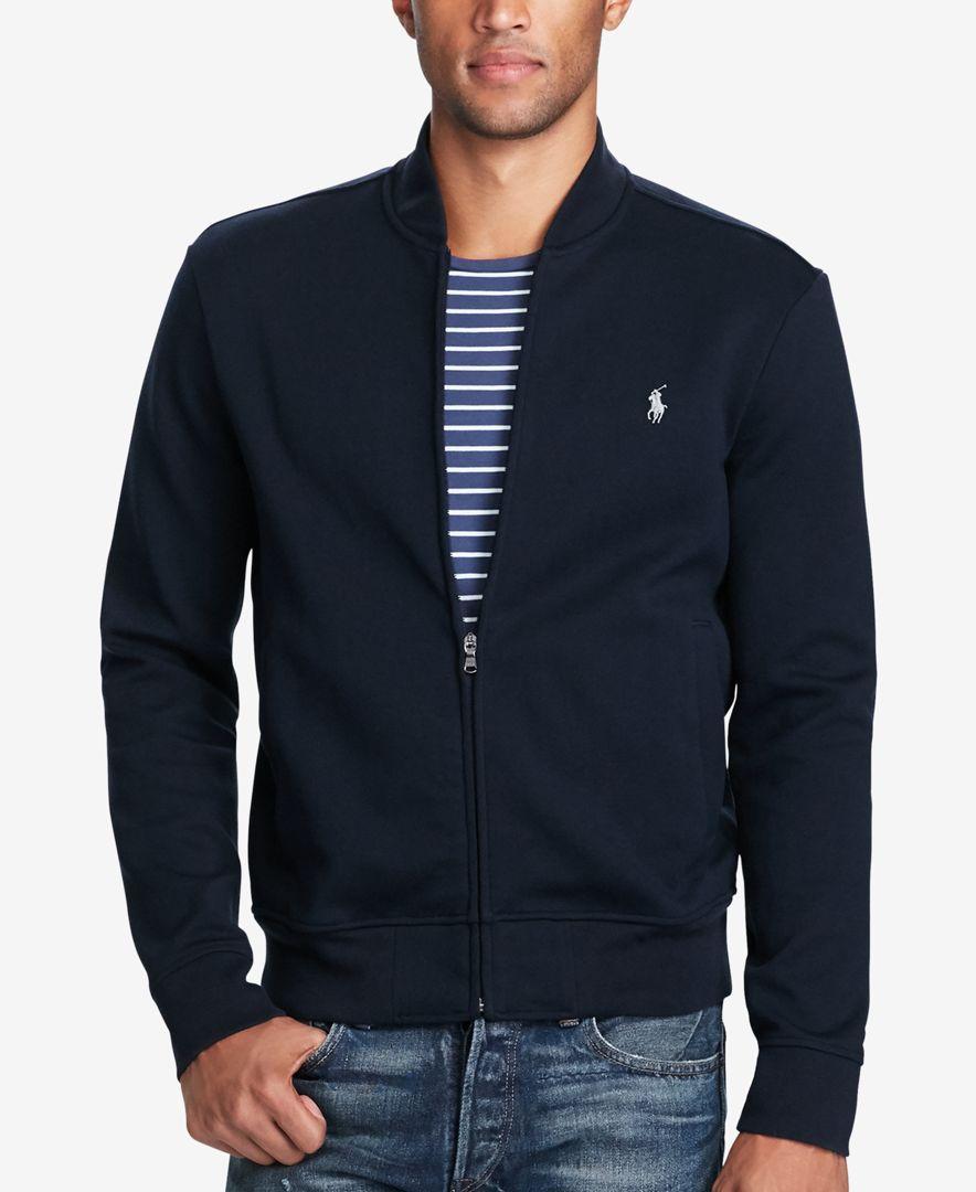 c8dfc8449f5 Polo Ralph Lauren Men s Double-Knit Bomber Jacket