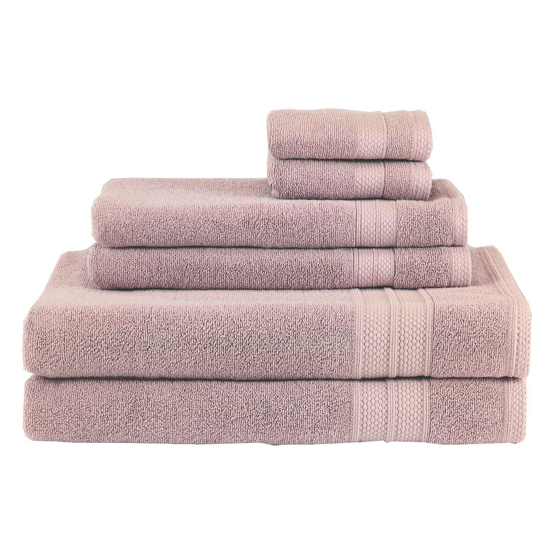 Mauve Solid Turkish Towel Set Of 6 Bath Towels Towel Set Spa