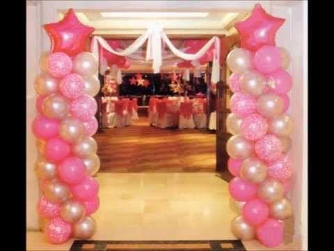 decoracion de muros con globos para aos