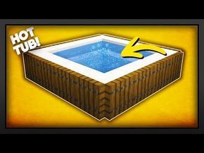 Minecraft How To Make A New Working Hot Tub Youtube
