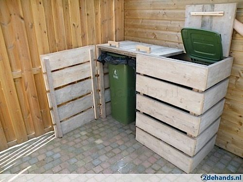 m lltonnenbox aus paletten outdoor ideas and projects. Black Bedroom Furniture Sets. Home Design Ideas