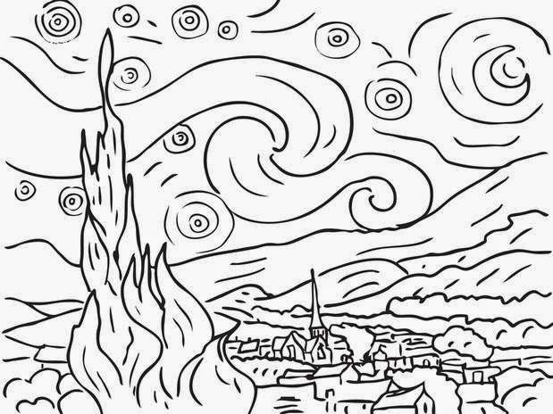 La Noche Estrellada Van Gogh Para Pintar Buscar Con Google