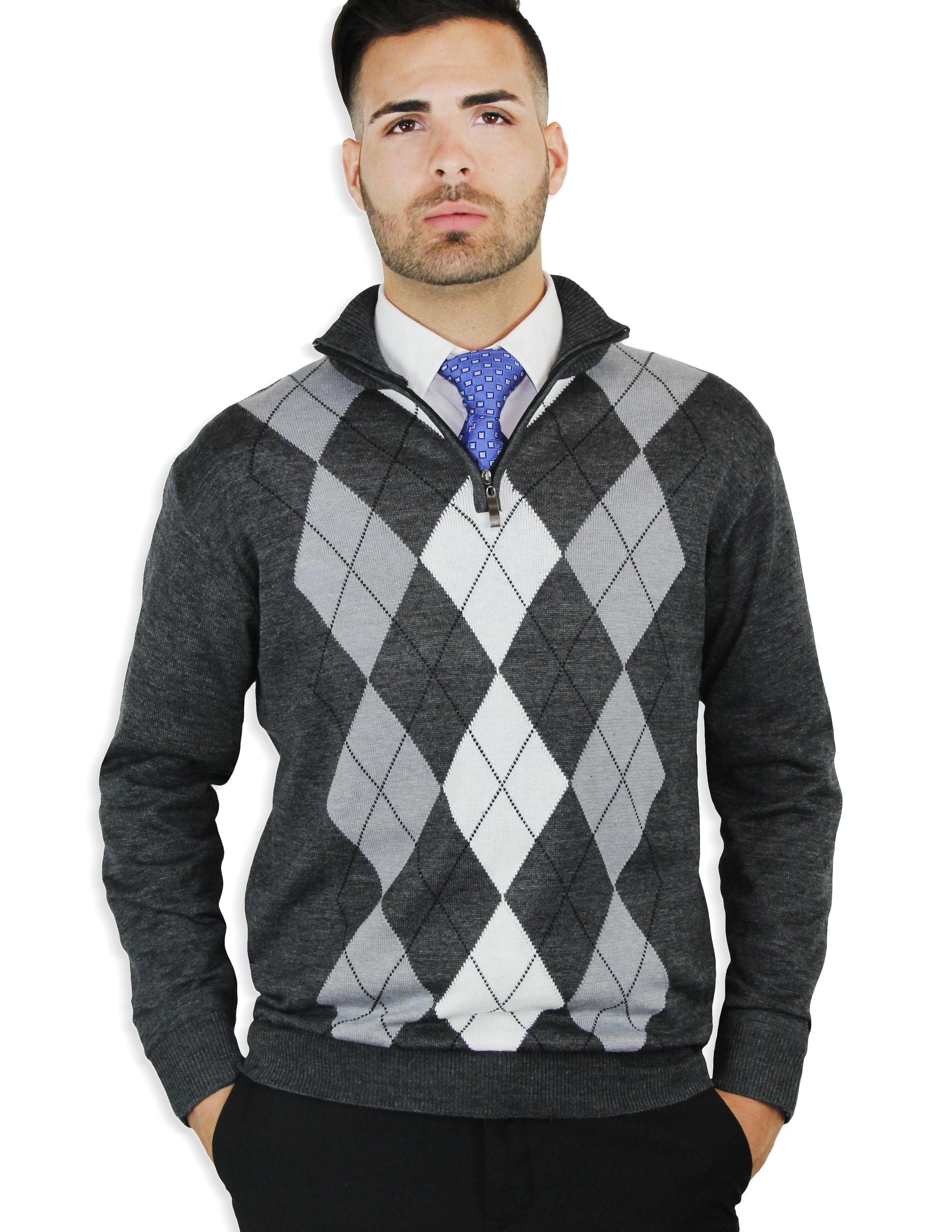 Quarter zip argyle sweater | Home & Casual | Pinterest
