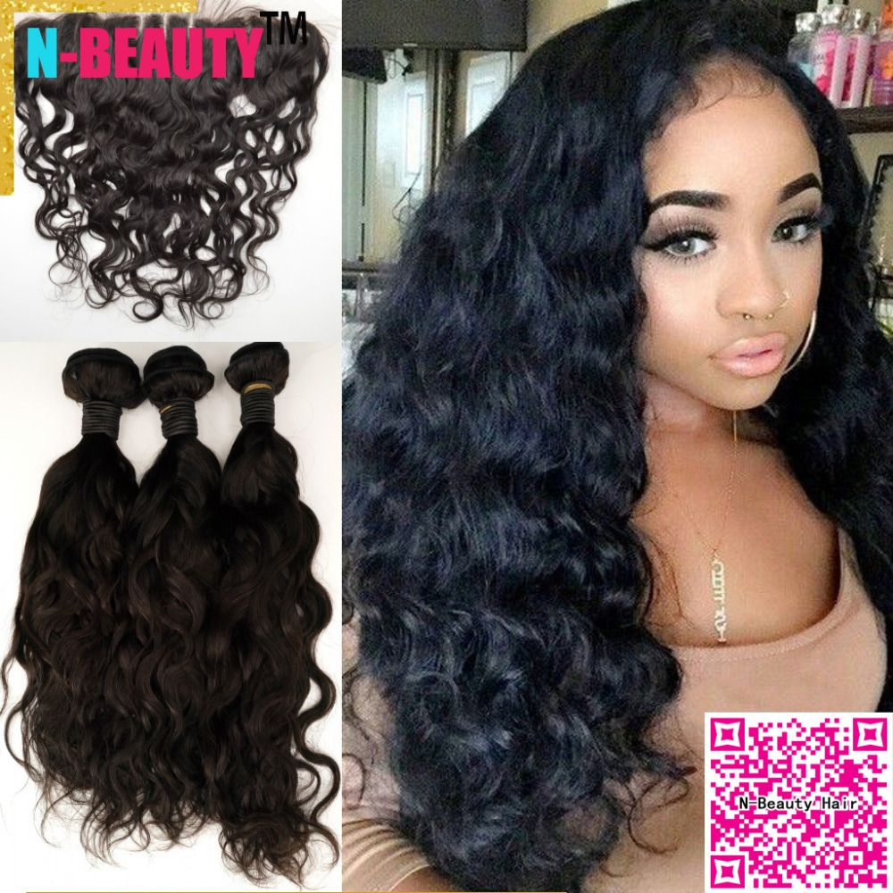 (Buy here: http://appdeal.ru/16js ) 13x4 Peruvian lace frontals with 3bundles Hair Weaves EAR TO EAR 8a human hair Peruvian water wave lace frontals with baby hair for just US $286.00