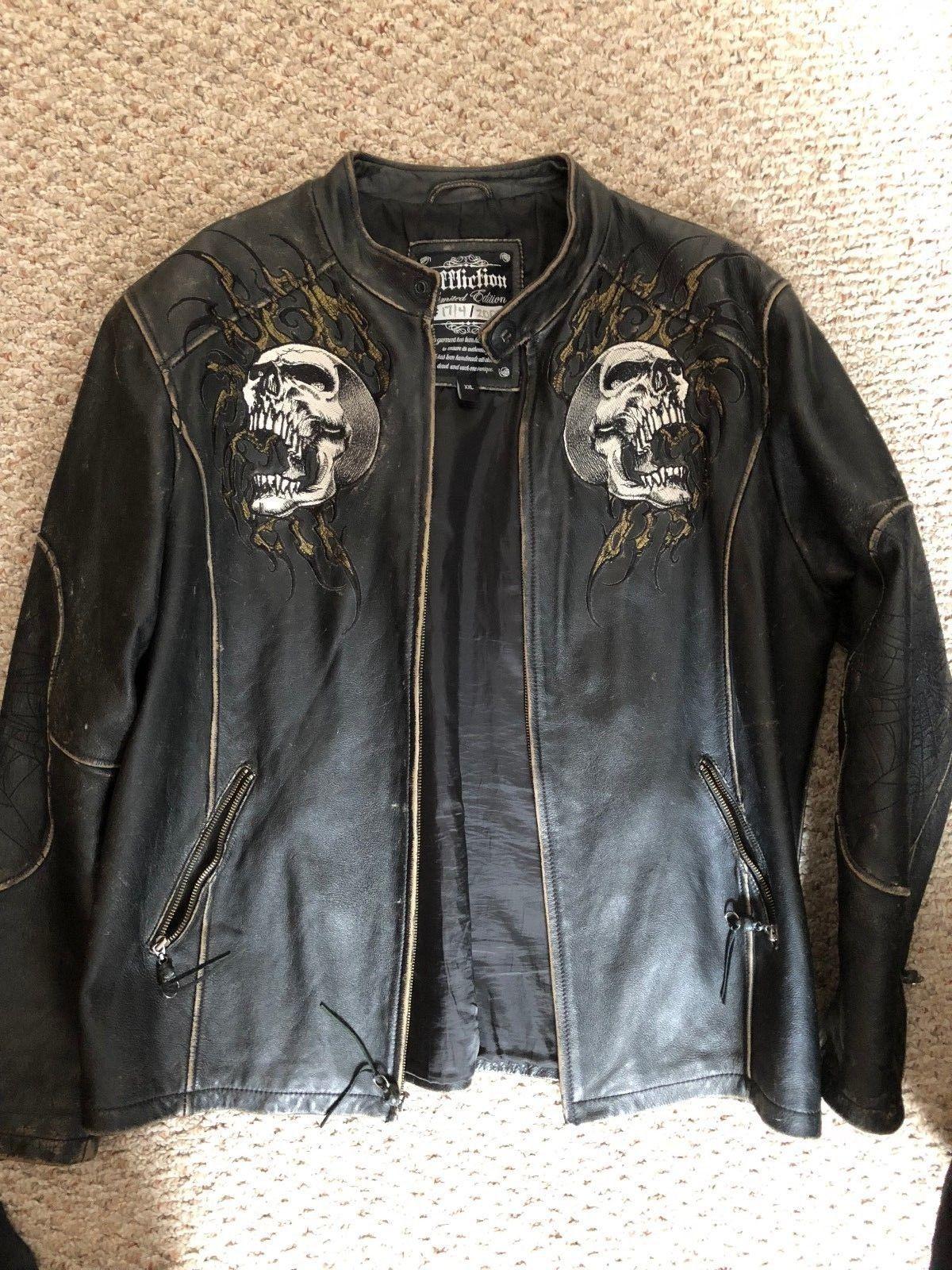 Original Distressed Affliction Leather Jacket Limited