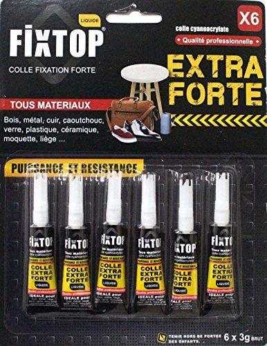Lot de 6 colle glue extra-forte caoutchouc cuir métal verre