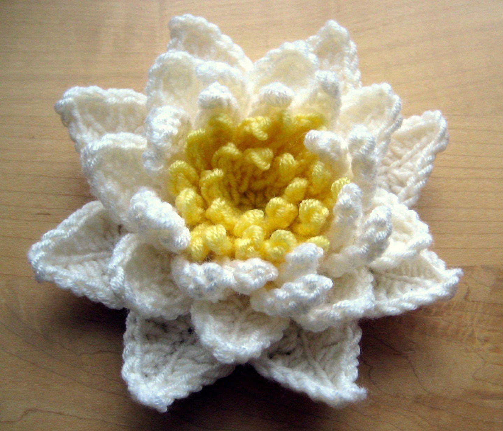 Water Lily Crochet Pattern Crochet Project Crochet Crochet