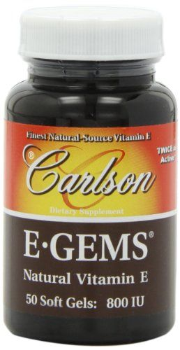 carlson labs egems natural vitamin e 800 iu 50 softgels read more reviews