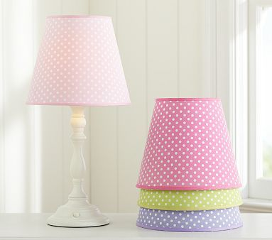 Kids s · pottery barn kids mini dot hot pink lamp shade