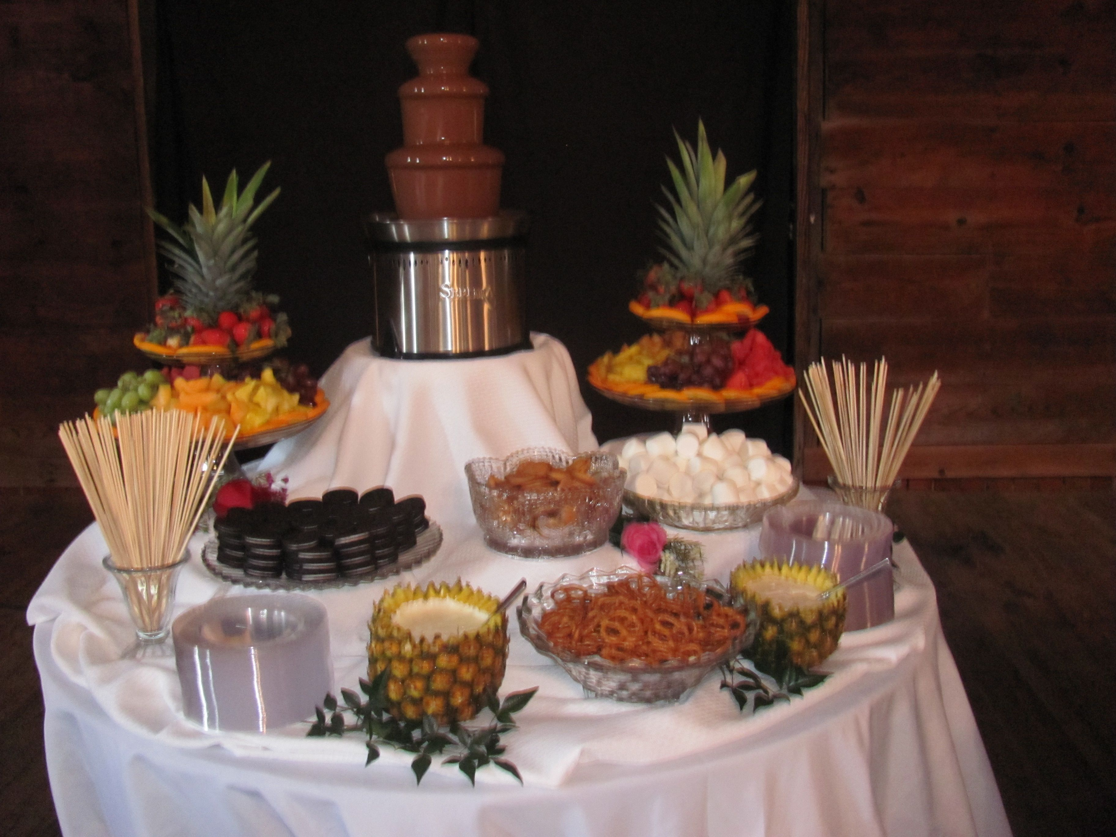 chocolate fountain dipping ideas - Google Search (With ... |Chocolate Fountain Ideas