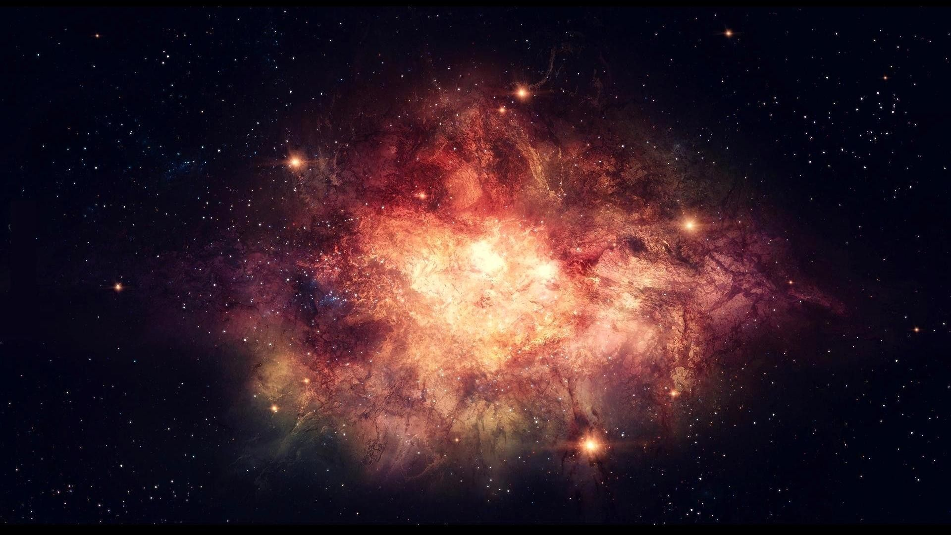 Big bang abstract dark explosions nebulae wallpaper for Sfondi galassie hd