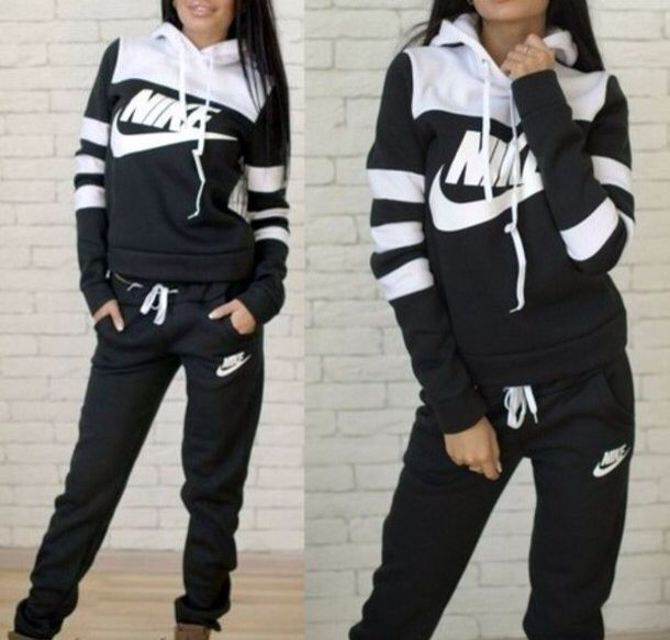 NIKE Women's Shoes - jumpsuit nike stripes striped sweater hoodie pants  tracksuit sportswear sports pants earphones - Find deals and best selling  products ...