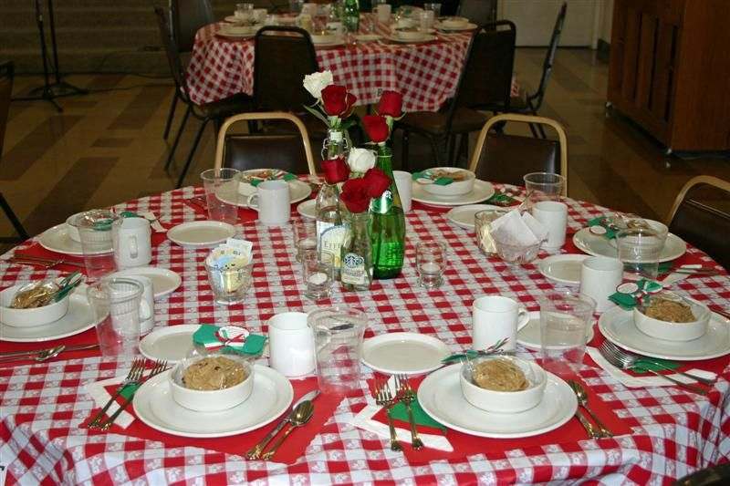 Merveilleux Italian Theme Table Settings | More Is More » Saints Alive Italian Dinner