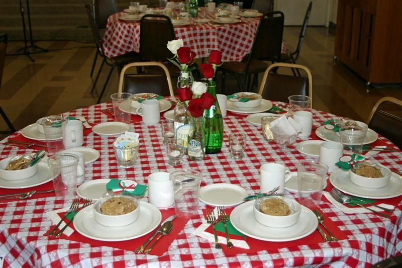 Italian Theme Table Settings More Is More Saints Alive Italian