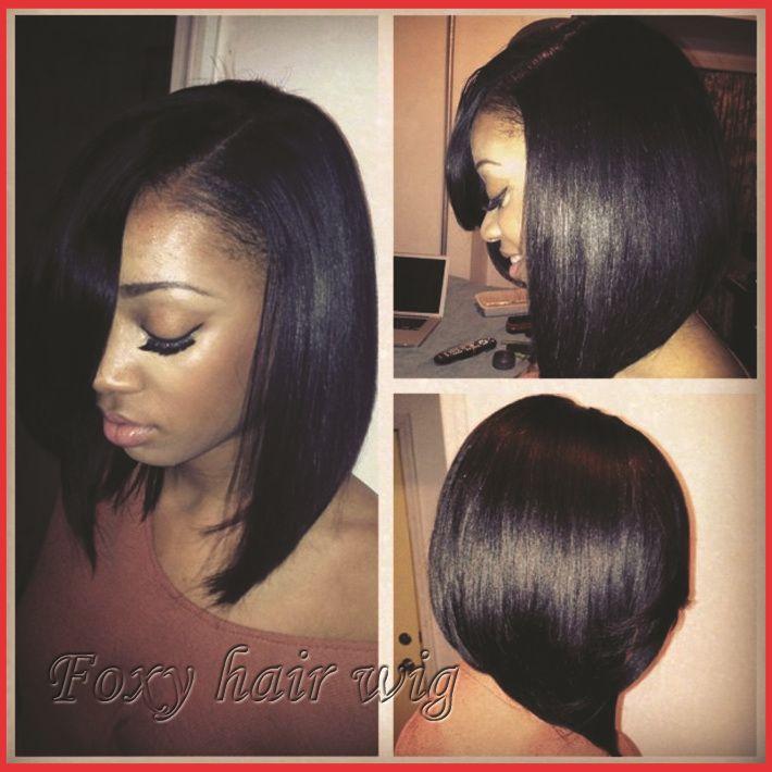 bob-hairstyle-100-Brazilian-virgin-black-hair-wigs-front-lace ...