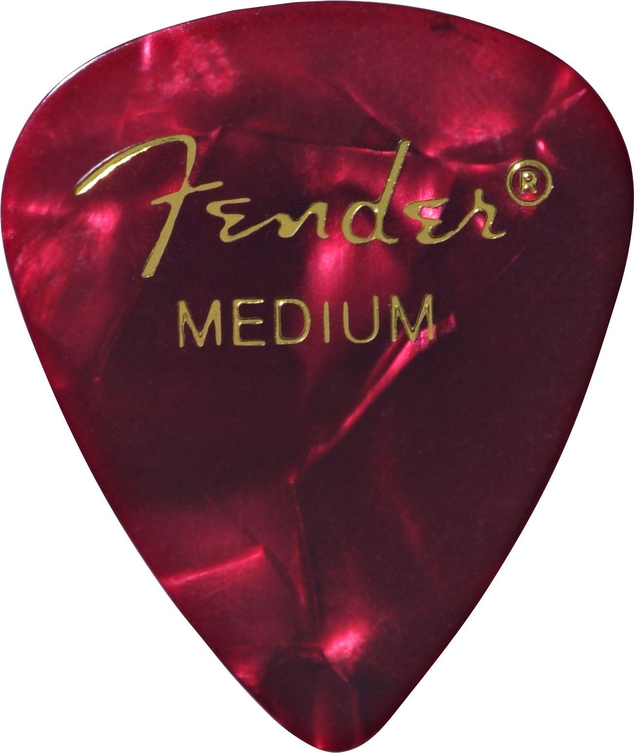 Fender Medium Red Moto Picks Pack Of 12