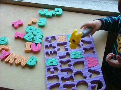 Pounding puzzle - literacy