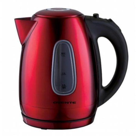 Ovente KS96R 1. 7L Cord-Free Stainless Steel Electric Kettle - Red - Walmart.com