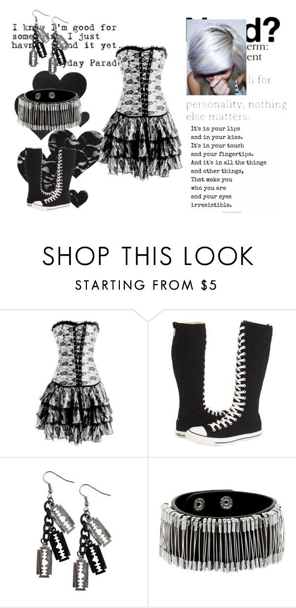 """""""Be Yourself!!!!!!!!"""" by simply-ally01 ❤ liked on Polyvore featuring Converse, Poizen Industries and Bristols6"""