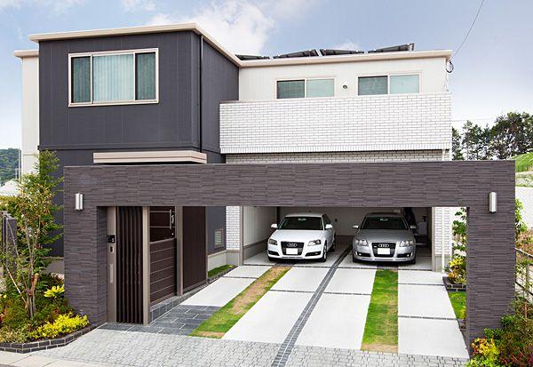二階建て ビルトインガレージ トヨタホーム 住宅 外観 ハウス