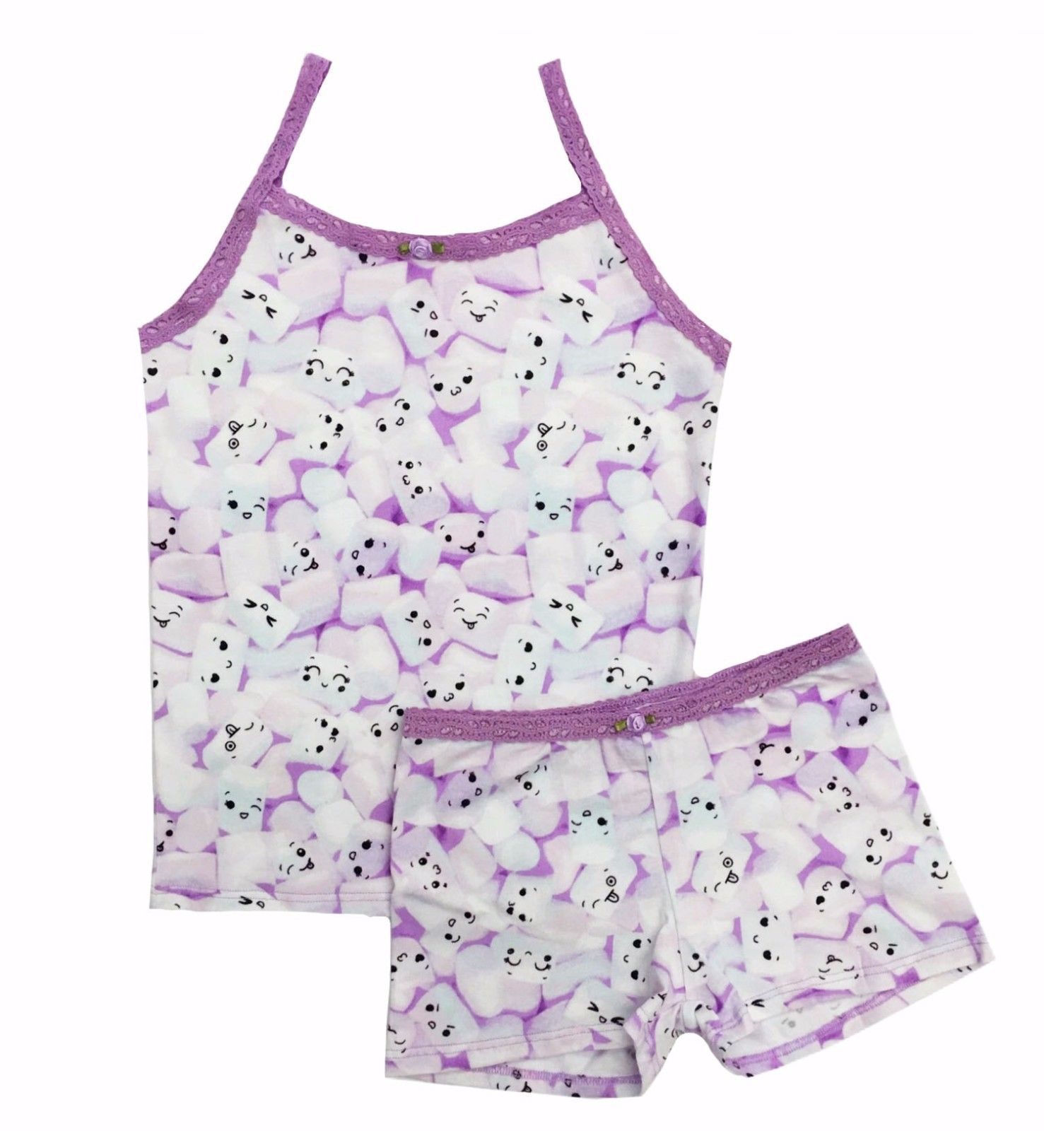 b85047e6cdbb9 Underwear 147219: Esme Girls Sleepwear Camisole Boxer Shorts Set Size 7  Marshmallow -> BUY IT NOW ONLY: $39.97 on eBay!